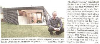 06_haus P_100 beste architekten_Haller Tagblatt November 2016