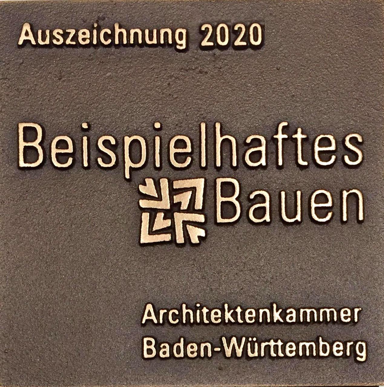 """kinderhaus BUGA -filigran,organisch- in heilbronn erhält die auszeichnung """"beispielhaftes bauen 2020"""" der architektenkammer baden-württemberg"""